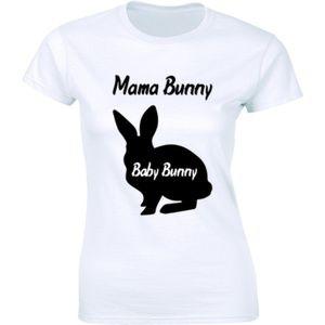 Half It Tops - Cute Mama Bunny Baby Bunny Bunnies Easter T-shirt